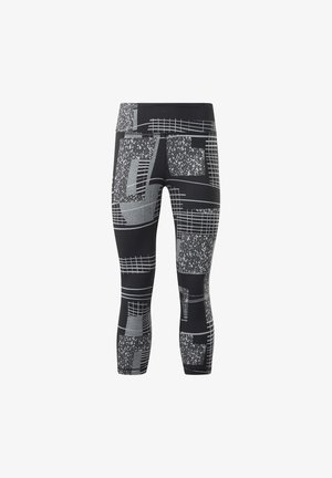 LUX 3/4 DECONSTRUCTED 2 LEGGINGS - Leggings - black