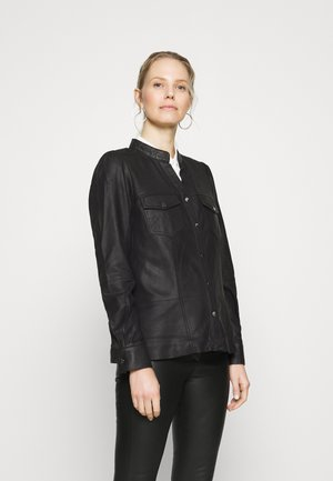 ALINA - Button-down blouse - black