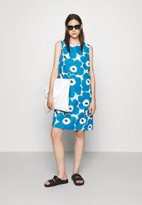 Marimekko - LAINEET PIENI UNIKKO DRESS - Day dress - blue/black/off-white - 1