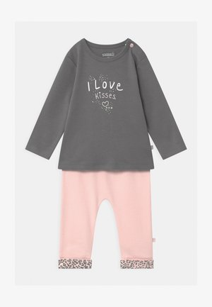 SET - Legging - light pink/dark grey