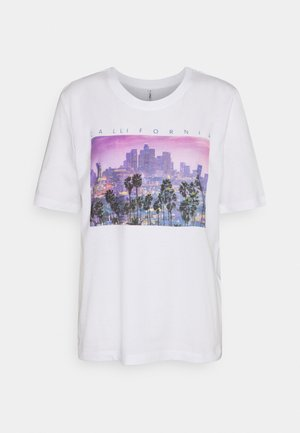 ONLIRIS LIFE BOXY CITY - Print T-shirt - bright white