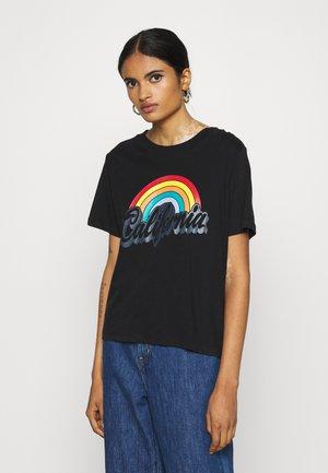 JDYFARA LIFE PRINT - Print T-shirt - black