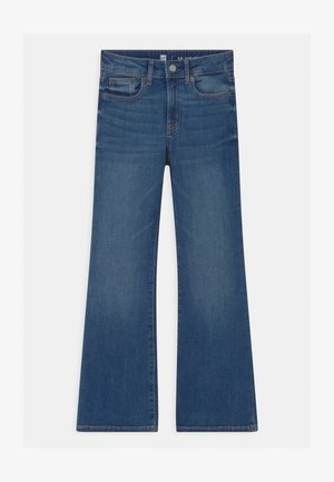 GIRLS  - Bootcut jeans - blue denim