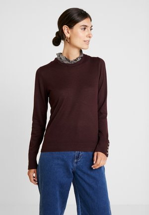 FABRIC SWEATER - Sweter - bordeaux