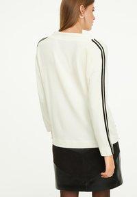 comma casual identity - Sweatshirt - light cream placeed print - 2