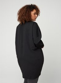 Zizzi - LONG-SLEEVED WITH A V-NECK - Tunique - black - 2
