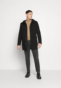 Only & Sons - ONSJACOB KING DUFFLE COAT - Classic coat - black - 1