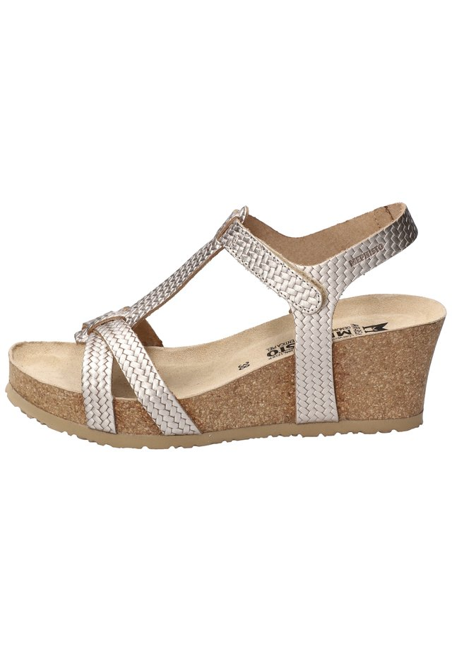 LIVIANE - Wedge sandals - metall