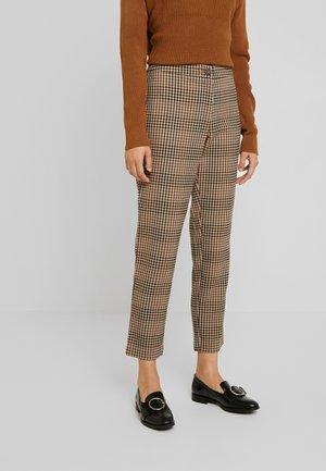 VIGESA 7/8 PANTS - Trousers - brown/black