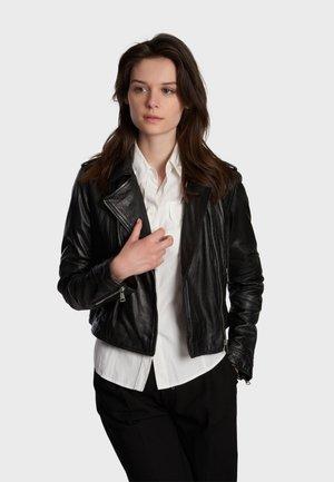 ALIZEE - Leather jacket - black