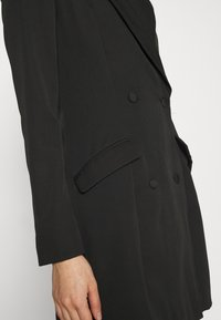 Missguided - BUTTON SIDE BLAZER DRESS - Shift dress - black - 5