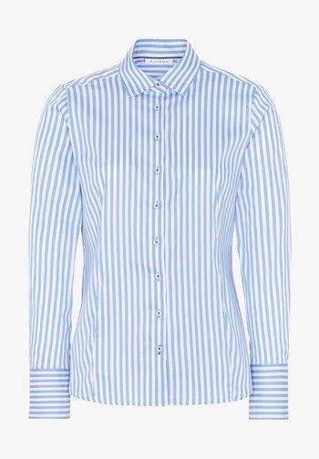 MODERN CLASSIC - Button-down blouse - hellblau/weiß