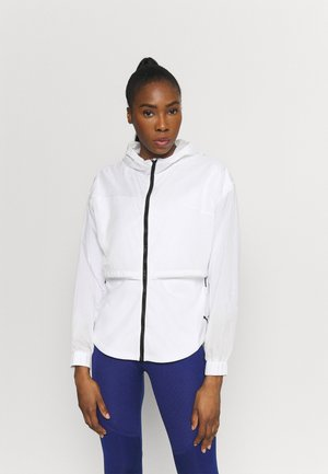 TRAIN ULTRA HOODED JACKET - Sportovní bunda - puma white