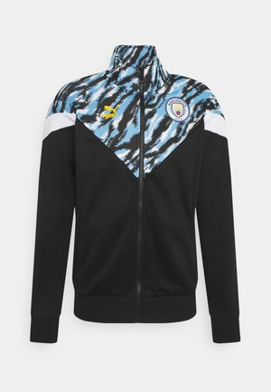 MANCHESTER CITY ICONIC GRAPHIC TRACK - Klubbkläder - black/spectra yellow