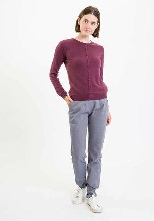 ALINA - Trousers - blaugrau-meliert
