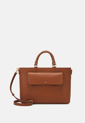 LEATHER - Briefcase - cognac