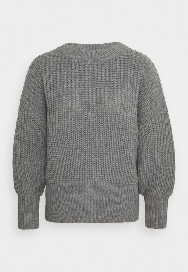 BASIC CHUNKY CREW NECK  - Jumper - grey