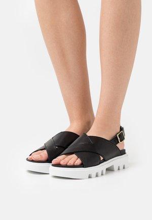 PIAVE - Platform sandals - black