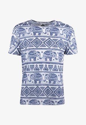 ELEPHANTS PATTERN  - T-shirt print - white