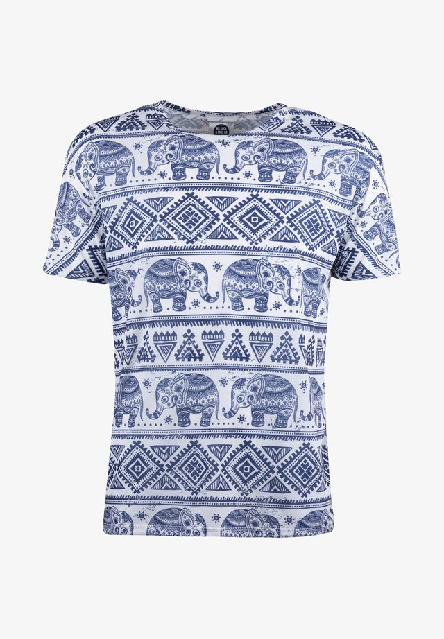 ELEPHANTS PATTERN  - T-Shirt print - white