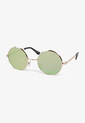 MIT RUNDEN - Sunglasses - gestell gold / glas gelb verspiegelt