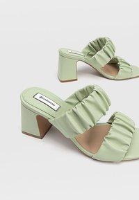 Stradivarius - High heeled sandals - mint - 4