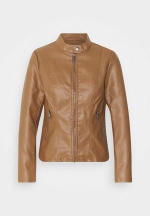 ONLMELISA JACKET - Faux leather jacket - cognac