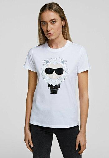 LEO - T-Shirt print - white