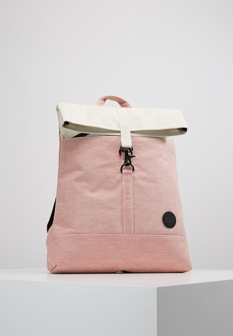 Enter - CITY FOLD TOP BACKPACK - Batoh - melange red/natural