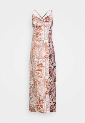 PAISLEY NECK CAMI DRESS - Długa sukienka - rust