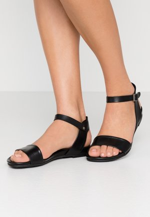 LEATHER SANDALS - Sandalias - black