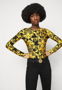 Versace Jeans Couture - ROUND BUCKLE - Pasek - nero - 0