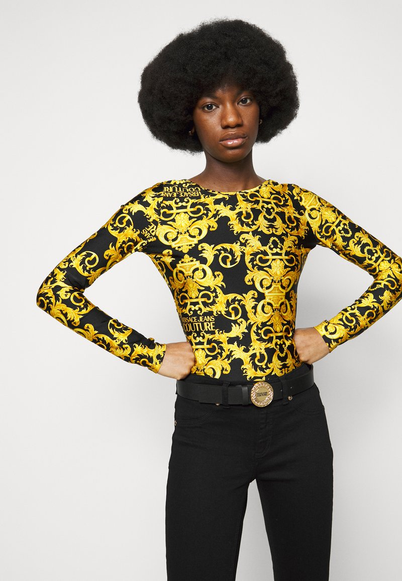 Versace Jeans Couture - ROUND BUCKLE - Pásek - nero