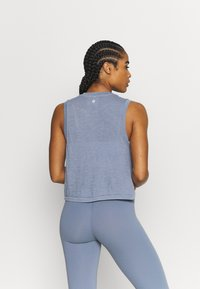 Cotton On Body - ALL THINGS FABULOUS CROPPED MUSCLE TANK - Top - blue jay wash - 2