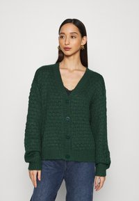 Monki - NINNI CARDIGAN - Cardigan - green - 0