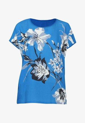 Print T-shirt - blue bic