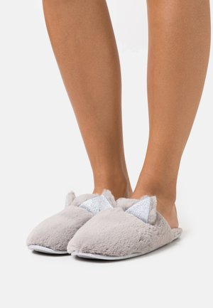 NOVELTY CAT MULE - Slippers - light grey