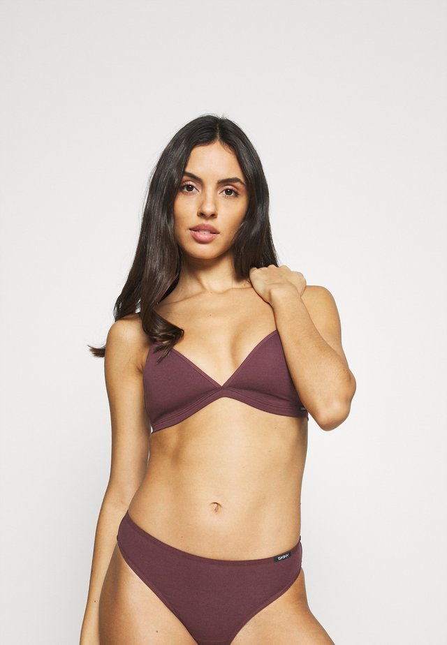 GEPADDET ESSENTIALS WOMEN - Triangel BH - aubergine