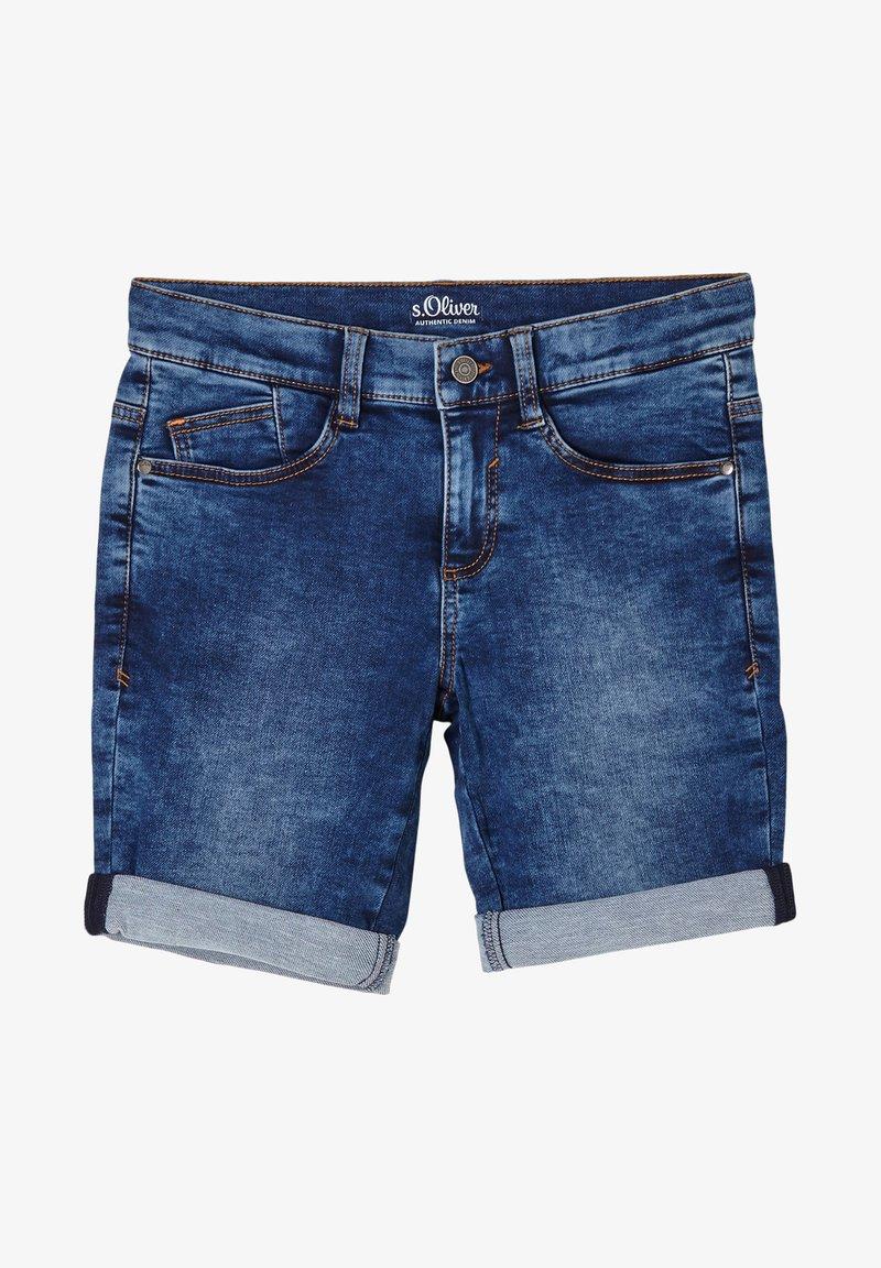 s.Oliver - Denim shorts - blue