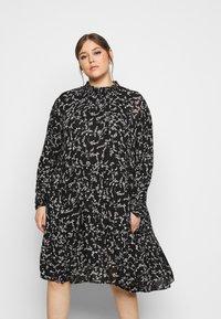 Kaffe Curve - SAVY DRESS - Day dress - black/chalk - 0
