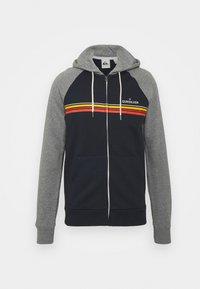 Quiksilver - ESSENTIALS SCREEN ZIP RAGLAN - Zip-up sweatshirt - navy blazer - 0