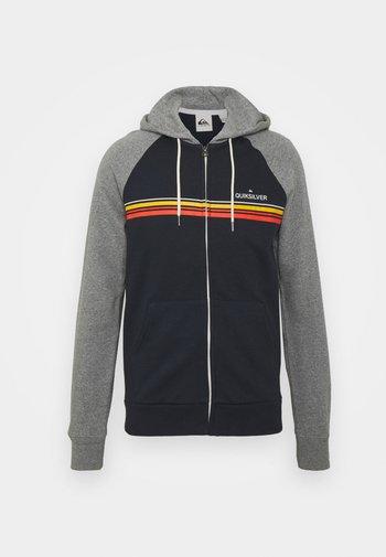 ESSENTIALS SCREEN ZIP RAGLAN - Zip-up sweatshirt - navy blazer