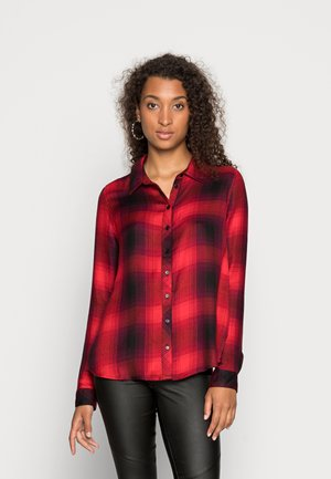 ONLRILEY LIFE CHECK - Button-down blouse - mineral red