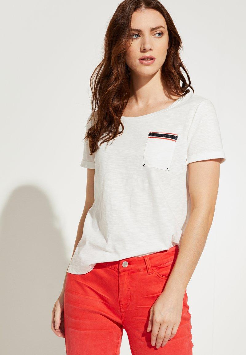 comma casual identity - Print T-shirt - white