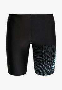 Speedo - GALA LOGO JAMMER - Swimming trunks - black/aquasplash - 2