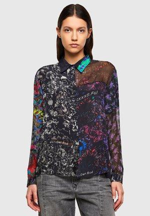 C-IZU - Button-down blouse - black