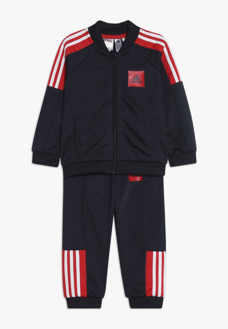adidas Performance - SHINY TRACKSUIT BABY SET - Tuta - legend ink/vivid red/white