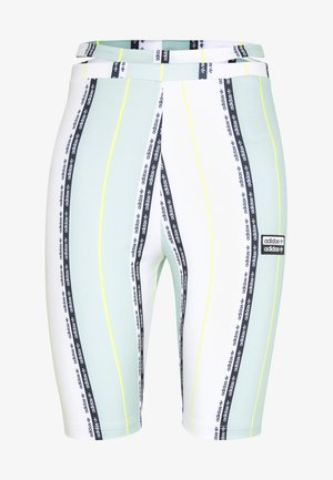 CYCLING TIGHTS - Shorts - white/green tint