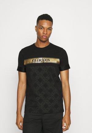 AXEL  - Print T-shirt - black/gold