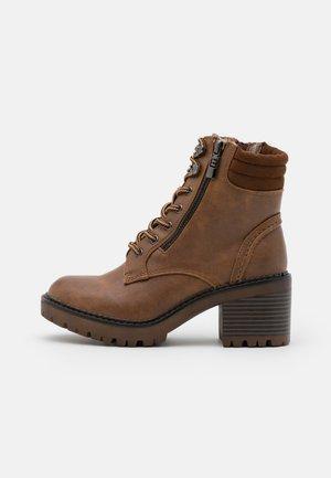 Platform ankle boots - marron